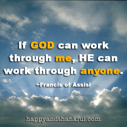 God Through Me Francis Assisi