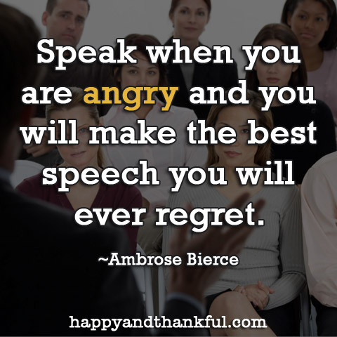 Speak Angry Speech
