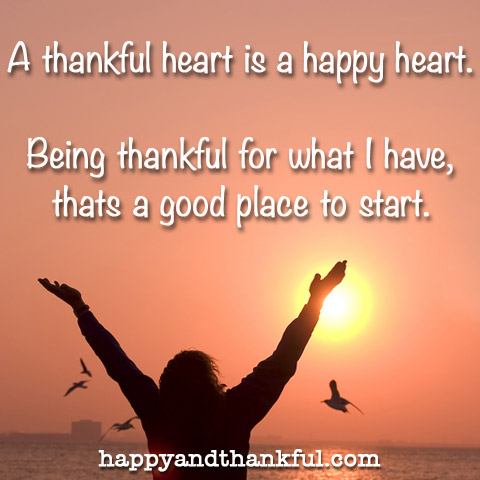 Thankful Happy Heart