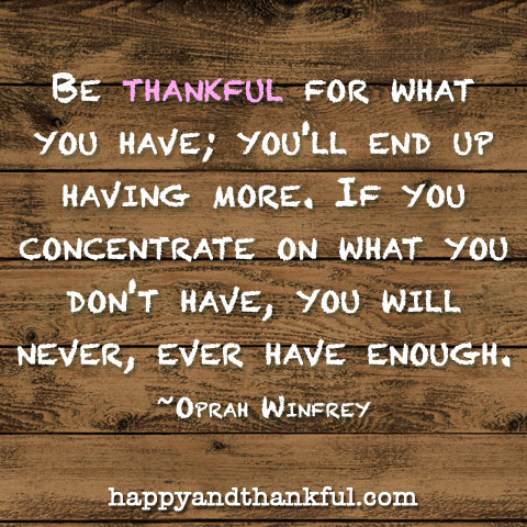thankful oprah