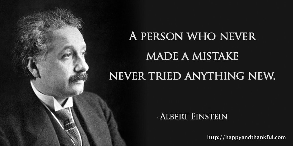 mistake quote einstein